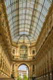 MEDIOLAN, WŁOCHY - 13-05-2017: Galleria Vittorio Emanuele II w Milie Zdjęcie Royalty Free