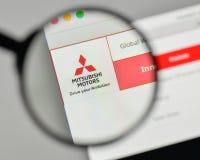 Mediolan Włochy, Listopad, - 1, 2017: Mitsubishi logo na stronie internetowej Fotografia Stock