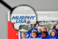 Mediolan Włochy, Listopad, - 1, 2017: Murphy usa logo na stronie internetowej Fotografia Royalty Free