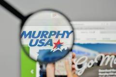 Mediolan Włochy, Listopad, - 1, 2017: Murphy usa logo na stronie internetowej Fotografia Stock
