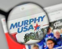 Mediolan Włochy, Listopad, - 1, 2017: Murphy usa logo na stronie internetowej Zdjęcie Stock