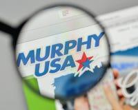 Mediolan Włochy, Listopad, - 1, 2017: Murphy usa logo na stronie internetowej Zdjęcia Stock