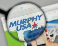 Mediolan Włochy, Listopad, - 1, 2017: Murphy usa logo na stronie internetowej Obraz Stock
