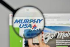 Mediolan Włochy, Listopad, - 1, 2017: Murphy usa logo na stronie internetowej Zdjęcie Royalty Free