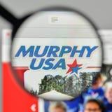 Mediolan Włochy, Listopad, - 1, 2017: Murphy usa logo na stronie internetowej Obrazy Royalty Free