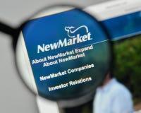 Mediolan Włochy, Listopad, - 1, 2017: NewMarket logo na stronie internetowej h Obrazy Stock