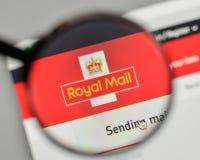 Mediolan Włochy, Listopad, - 1, 2017: Royal Mail logo na stronie internetowej Fotografia Royalty Free