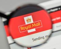 Mediolan Włochy, Listopad, - 1, 2017: Royal Mail logo na stronie internetowej Zdjęcia Stock