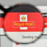 Mediolan Włochy, Listopad, - 1, 2017: Royal Mail logo na stronie internetowej Obrazy Stock