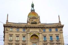 Mediolan Włochy, Maj, - 03, 2017: Fasada dom stara architektura w Włochy, Europa, Mediolan Zdjęcia Royalty Free