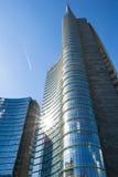 Mediolan Włochy, Maj, - 18 2014: Unicredit wierza Obrazy Royalty Free