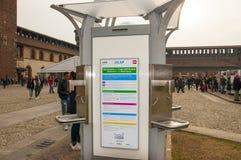 Mediolan wodny kiosk w Castello Sforzesco Zdjęcia Stock