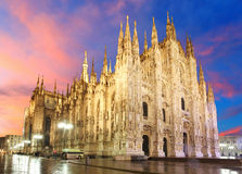 Mediolańska katedralna kopuła Zdjęcia Royalty Free