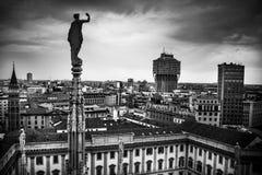 Mediolański pejzaż miejski Obraz Stock