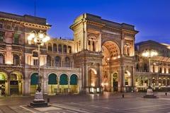 Mediolański przejście Frontowej strony wschód słońca Zdjęcia Royalty Free