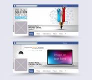 Medios bandera social del web, jefe del sitio web para la página ilustración del vector