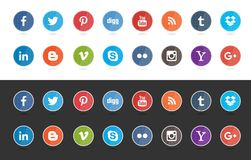 Medios botón social libre illustration