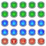 Medios botones de cristal en marco metálico libre illustration