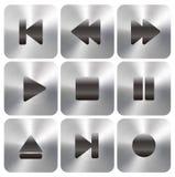 Medios botones del juego UI Imágenes de archivo libres de regalías