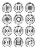 Medios botones metálicos stock de ilustración