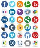 Medios botones redondos sociales con los iconos [1] libre illustration