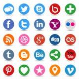 Medios botones sociales Foto de archivo libre de regalías