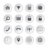 Medios botones sociales Fotos de archivo libres de regalías