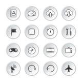 Medios botones sociales Fotografía de archivo