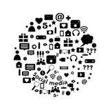 Medios burbuja social de los iconos Imagen de archivo