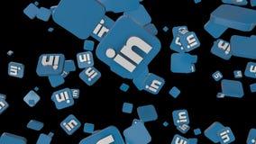 Medios caída social del lazo del icono ligada adentro