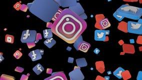Medios caída social 1 multi del lazo del icono