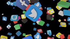 Medios caída social 12 multi del lazo del icono