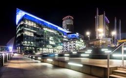 Medios ciudad, muelles de Salford, Manchester fotos de archivo