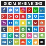 Medios colección social de los iconos ilustración del vector