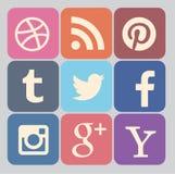 Medios colección social del icono Fotografía de archivo libre de regalías