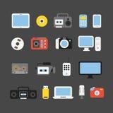 Medios colección de los dispositivos de diverso color Imagenes de archivo