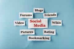 Medios collage social Imagen de archivo libre de regalías