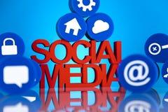 Medios comunicación social Imagen de archivo libre de regalías