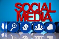 Medios comunicación social Fotografía de archivo