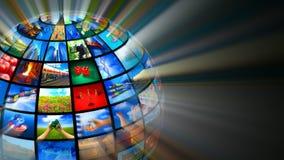 Medios concepto creativo de las tecnologías almacen de metraje de vídeo