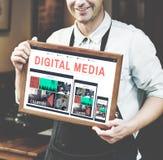Medios concepto del gráfico de la tecnología de Digitaces Imagenes de archivo