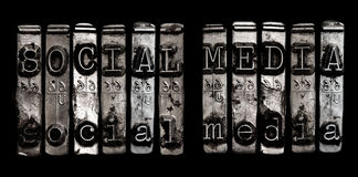 Medios concepto social Imagen de archivo libre de regalías