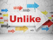 Medios concepto social: flecha con desemejante en fondo de la pared del grunge libre illustration