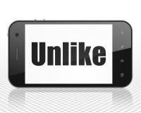 Medios concepto social: Smartphone con desemejante en la exhibición ilustración del vector