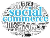 Medios conept social del comercio en nube de la etiqueta de la palabra libre illustration