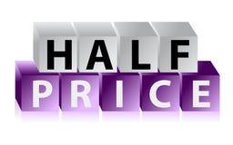 Medios cubos del botón del precio Imagen de archivo libre de regalías