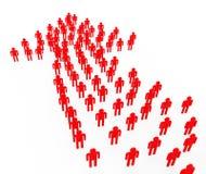 Medios de la dirección de la sinergia de la gente que trabajan junto y autoridad stock de ilustración