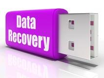 Medios de la impulsión de la pluma de la recuperación de los datos convenientes ilustración del vector