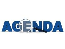 Medios de la palabra del orden del día de hacer programa del horario Fotografía de archivo