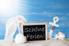 Medios de Sunny Summer Card With Schoene Ferien buenas fiestas fotografía de archivo libre de regalías